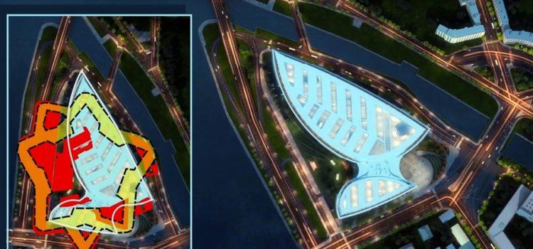 Проектируемый на Охтинском мысу офисный центр затронет охраняемую территорию